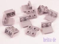 LEGO - 10 x Winkelplatte invers 1x2 auf 2x2 hellgrau / Konverter / 99207 NEUWARE