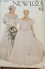 New Look Pattern 6358 Misses' Bridal Dress Southern Bell Gown size 8 - 18 uncut