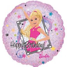"BARBIE BALLOON 18"" BARBIE BIRTHDAY PARTY SUPPLIES HOLOGRAPHIC ANAGRAM BALLOON"