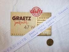 Di cartone sul piatto storico Pubblicità Graetz ANTICA RADIO TUBI RADIO