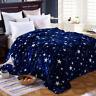 Couvre-lit - Hiver chaud - Plaid polaire - Dessus de lit - Couverture polaire -