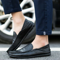 Men's Leather Casual Boat Loafers Fashion Moccasins Slip on Driving Shoes