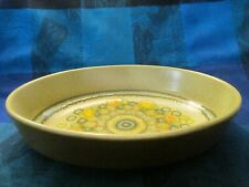 FRANCISCAN, ENGLAND, REFLECTIONS PATTERN, EARTHENWARE OVAL SERVING BOWL; -VGC