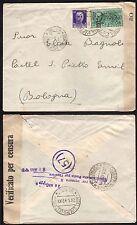 STORIA POSTALE Regno 1942 Espresso da Cortina d'A. per Castel S.Pietro (FSH)