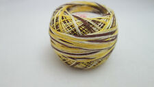 1 Spool vintage Size 70 Tatting Cotton - Variegated Brown & Yellow #183