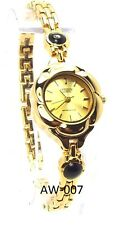 New Citizen Ladies Gold-tone, 2 black Garnet Dress Watch