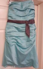 Alfred Angelo NWT Woman's Pool/Charcoal Prom Formal Strapless Dress Size 14