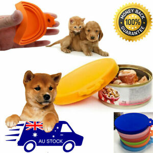 Pet Food Can Cover Lid Dog Cat Pet Tin Silicone Reusable Storage Cap Top AU