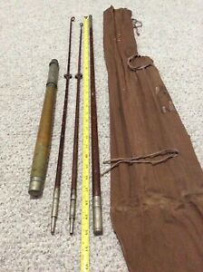 Nice/Early 6' 1900's Bay/Bonefish Travel Rod 3 Pc. 2 Tip/Sock! See Pics NR!