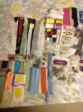 MIXED LOT OF ASSORTED VINTAGE & NEW SEWING SUPPLIES NOTIONS CRAFTS  c