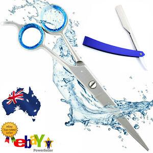 "🔥Sharpest Black Hairdressing Scissors Barber Hair Cutting Razor Blades 6.0"" ✅"
