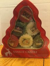 Yankee Candle Christmas Tree Tin  11 Wax Melts One Wax Melt Missing