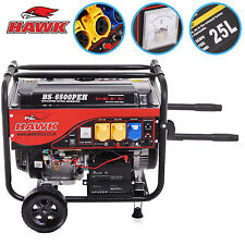 8.2kVA 6.5kW 6500w 110V 230V 15HP PETROL PORTABLE INDUSTRIAL ELECTRIC GENERATOR