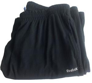 Reebok Classic Track Sweat Pants Size M Mens Stretch Black Comfort