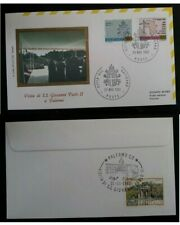 1982 Vatican Visit of Pope John Paul II to Palermo Cover  ties 3 stamps