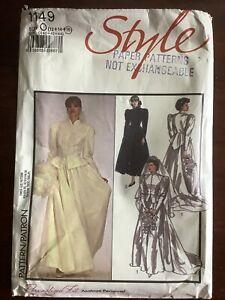 Vintage Style Misses Bride Bridesmaid Jacket & Skirt Pattern No 1149 Size 12-16
