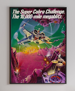 Super Cobra 1981 Arcade Video Game Retro Print Poster 18x24 inches