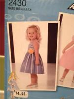 Simplicity Sewing Pattern 2430 Toddler Girls Child Dress Size 1/2-3 Uncut