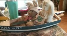 2 Boyds Hares & H. M. S. Boyds Boat All New w/Tags v