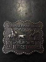 1987 NFR National Finals Rodeo Adult Western Belt Buckle Team Roping Hesston