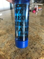 Pink By Victoria's Secret Clear & Blue Reusable Water Bottle Straw Included