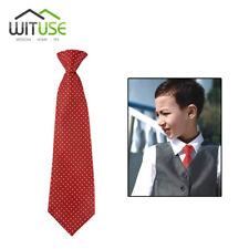 Red Dot School Boys Children Kids Elastic Necktie Wedding Tie 5044081