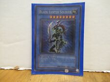 Yu-Gi_Oh card Black Luster Soldier  2 cards Different hues to holo, SYE-024