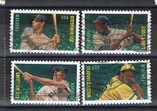 USA-Satz Baseball-Spieler (4) gestempelt