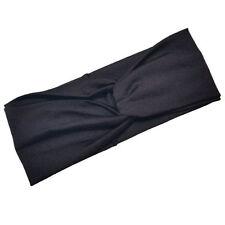 Women Cotton Turban Twist Head Knot Headband Wrap Twisted Knotted Hair Band