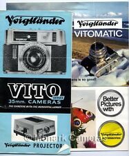 3 Voigtlander Vito & Vitomatic Camera, Lens & Accessory Brochures, Others Listed