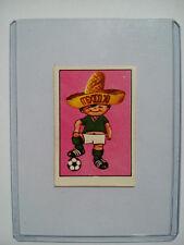 RARE PANINI MEXICO 70 (1970) Coupe du monde JUANITO BADGE SCUDETTO Poster Autocollant