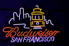 "Budweiser San Francisco Neon Sign Light Beer Bar Pub Home Room Wall Decor17""x14"""