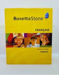 Rosetta Stone French Levels 1-5, Version 3 VGC Inc Headphones PC / Mac CD-ROM