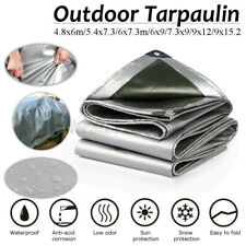 Tarp Poly Tarpaulin Canopy Tent Shelter Sheet Waterproof Camping Car Boats