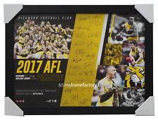 Richmond 2017 Premiers Team Signed AFL Official Print Framed Martin Cotchin