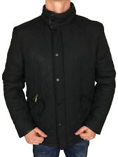 Barbour International Mens Powell Quilted Jacket in Black Medium
