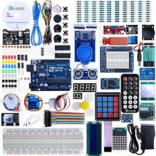 UNO R3 Project Complete Starter Learning Kit with Tutorial for Arduino 63 Items