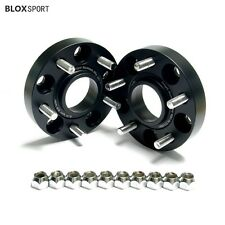 """4 Pc 1"""" 25mm Audi 5x100 to 5x112 Wheel Adapters Spacers Aluminum Forged Black"""
