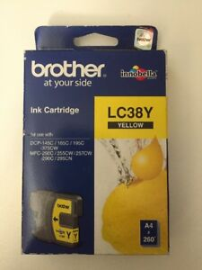 New Brother LC38Y Yellow Ink Cartridge (0.26K) - GENUINE EXP 05/2015