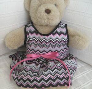 Teddy Bear Clothes, Handmade Chevonne Cotton Summer Dress