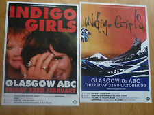 Indigo Girls - Scottish tour Glasgow concert gig posters x 2