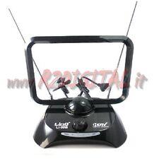 ANTENNA TV DVB-T UHF 38 dB DIGITALE TERRESTRE AMPLIFICATA INTERNA TELEVISORE