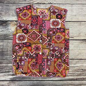 Vintage 60s 70s Hippie Flower Power Vest