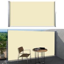 Seitenmarkise Markise Rollo Sichtschutz Windschutz Balkon Terrasse Beige 200x300