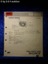 Sony Service Manual WM 3000 Cassette Player (#0690)