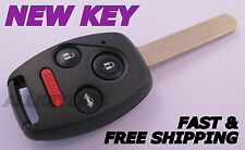 OEM HONDA ACCORD keyless entry remote fob transmitter in NEW CASE W/ UNCUT KEY