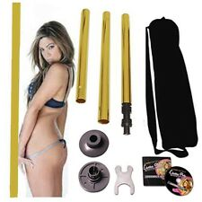 Portable Fitness GOLD Exotic Stripper Strip Pole Dance Dancing locking 50mm