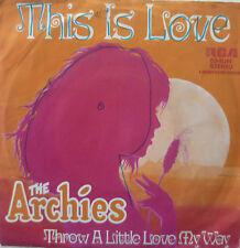 """7"""" 1971 RARE ! THE ARCHIES : This Is Love // VG+ \"""