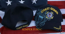 Us Coast Guard Hat Veteran Cap Wowcg Pin Up Anchor Gift Retirement Promotion Wow