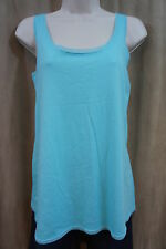 HUE Sleep Shirt Sz S Blue Radiance Tank Cotton Polyester Pajama Sleep Wear Shirt